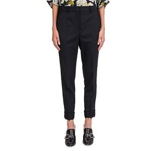 The Kooples Lace Trimmed Tapered Trousers